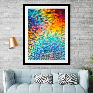 Abstract framed wall art 14x18